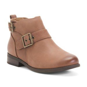 NEW! Vionic Buckle Leather Booties Women's Size 6